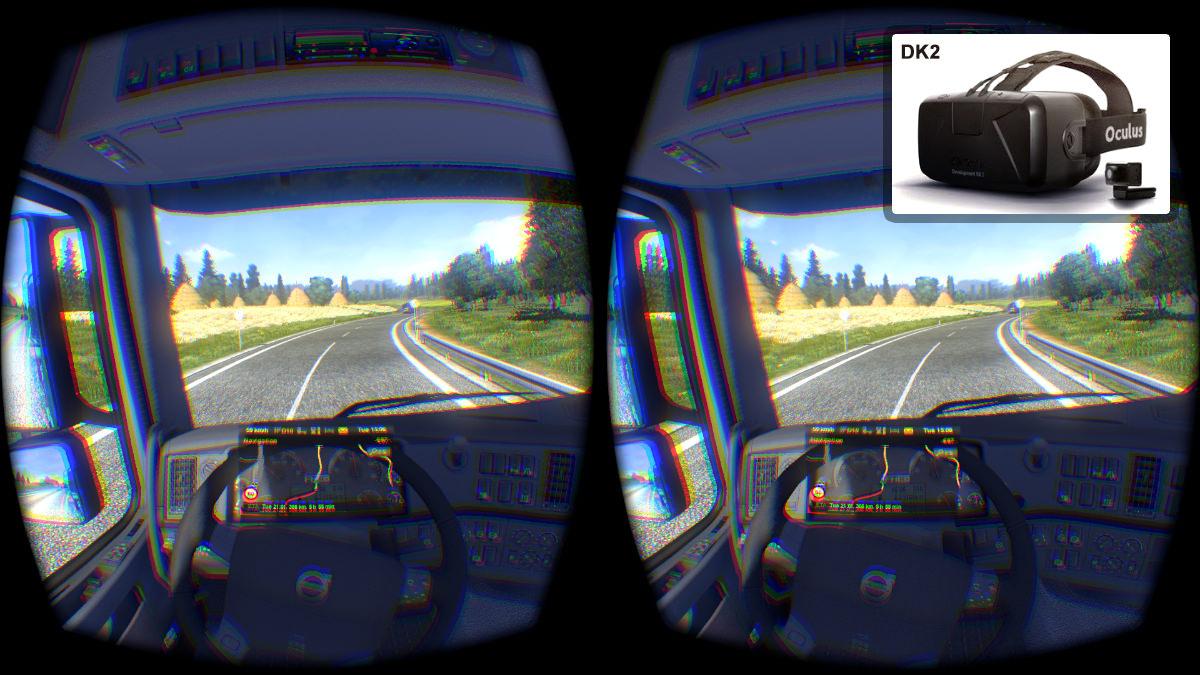ETS 2 теперь поддерживает Oculus Rift DK2