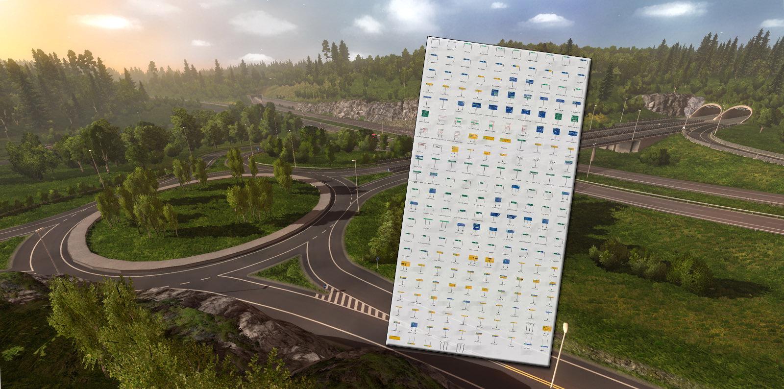 Новые дорожные знаки в DLC «Scandinavia»