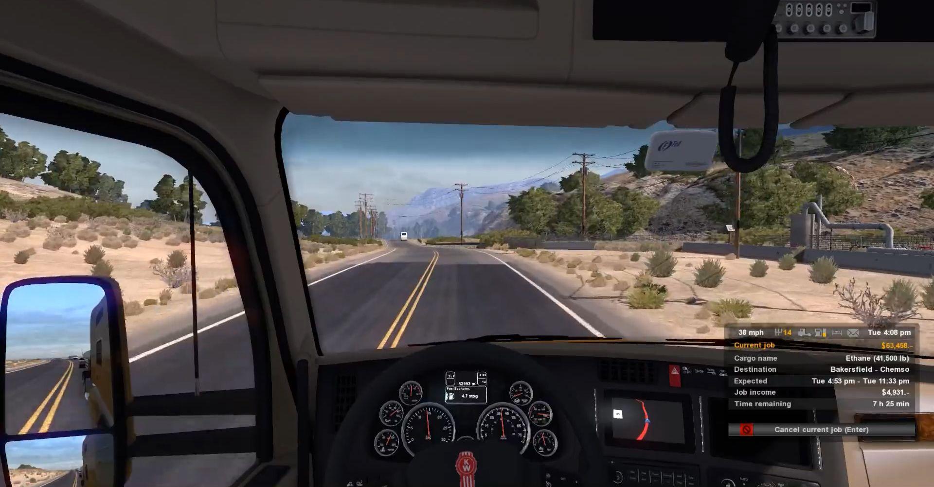 1 час геймплея из игры American Truck Simulator