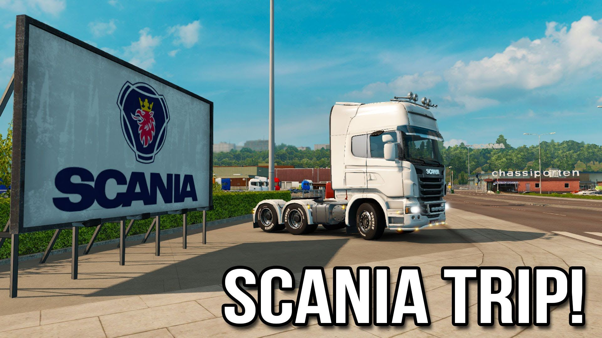 Путешествие на завод Scania в DLC Scandinavia