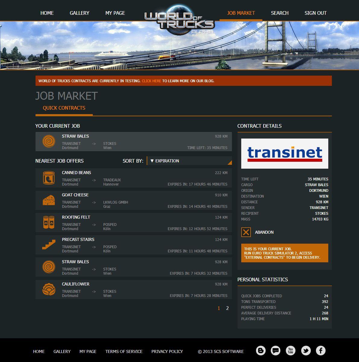 ETS 2: открытый тест обновления 1.22 и новый функционал World Of Trucks