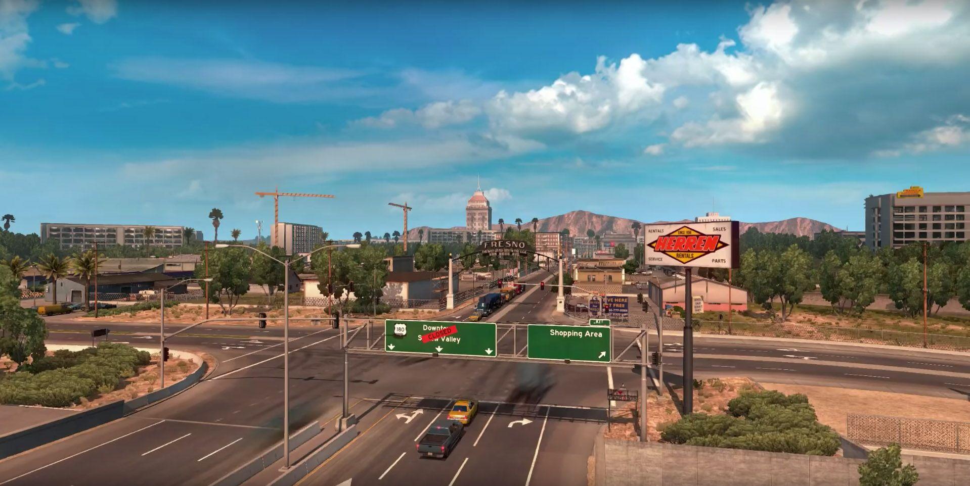 American Truck Simulator: просторы Калифорнии и Невады (фанатский видеоролик)