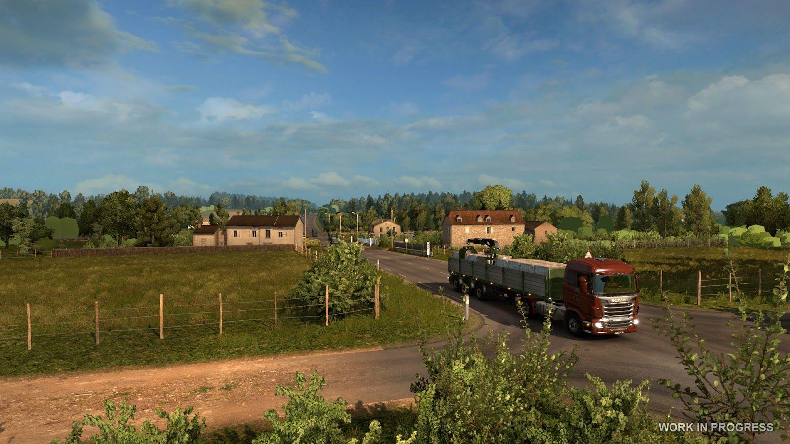 Euro Truck Simulator 2: расширение карты - Франция