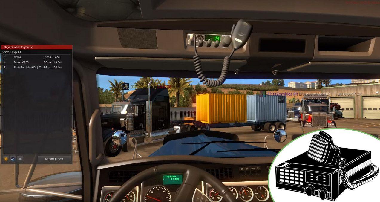 TruckersMP: обновление 0.2.0.8 (CB Radio)