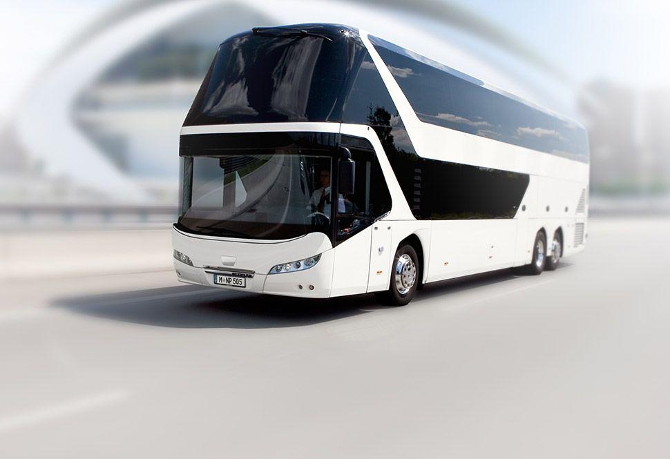 Fernbus Simulator: трейлер дополнения Neoplan Skyliner DLC
