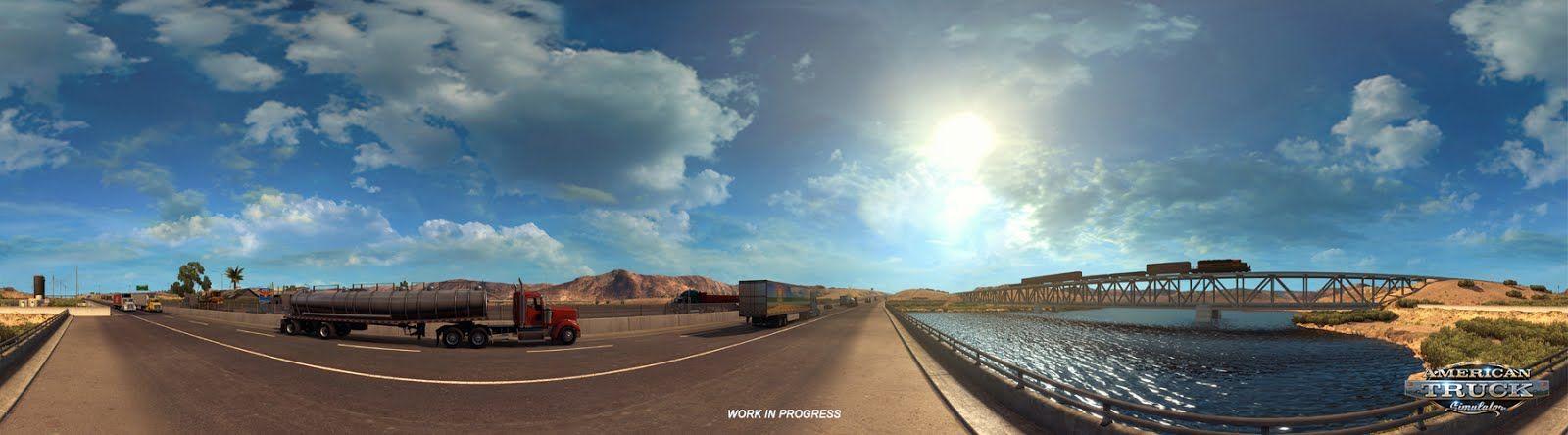 American Truck Simulator: панорамы из Arizona DLC