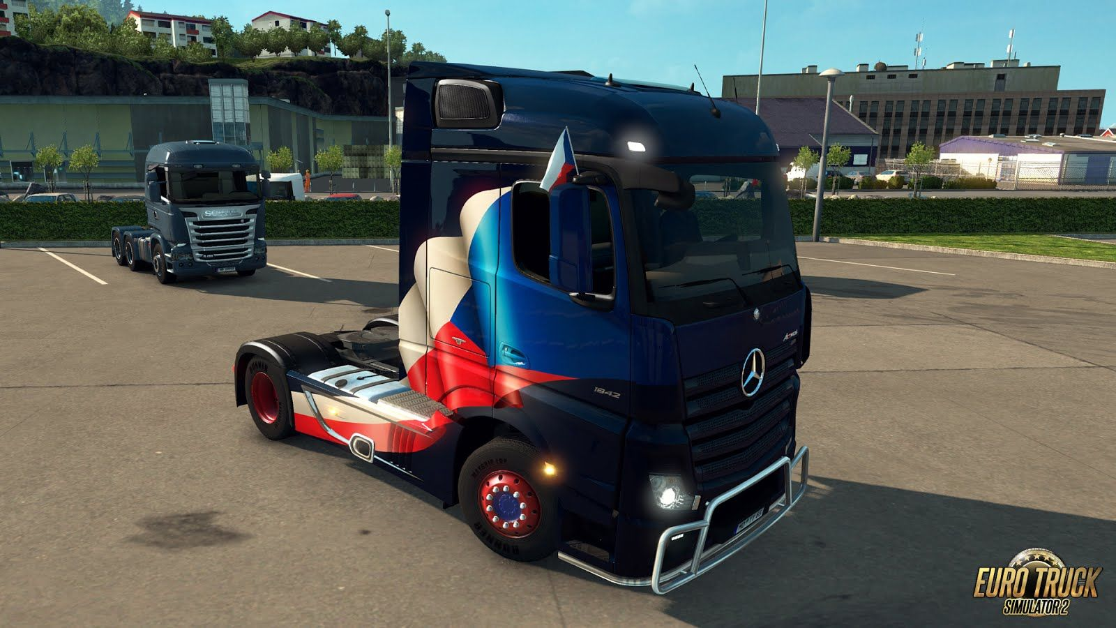 Euro Truck Simulator 2: вышло дополнение National Window Flags