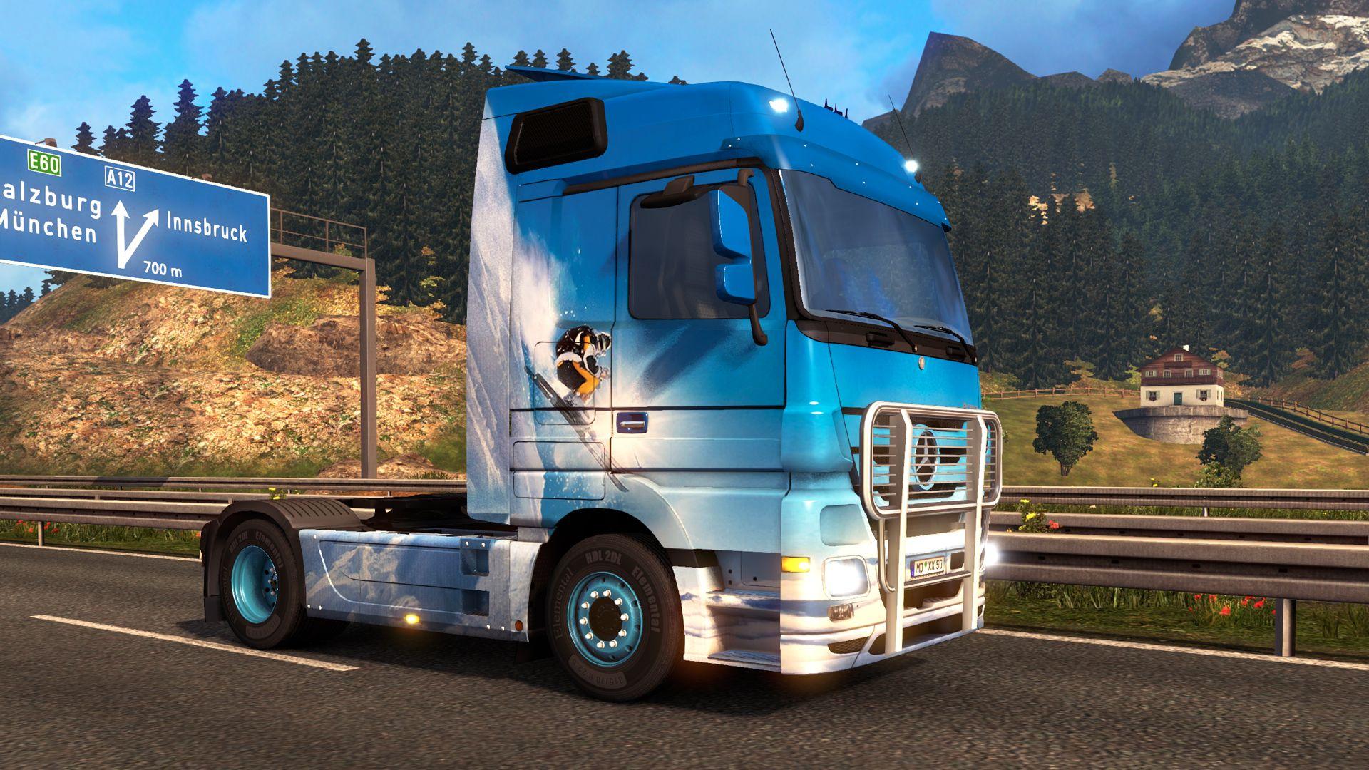 Euro Truck Simulator 2: релиз Австрийской и Швейцарской наборов раскрасок и Легендарное издание игры