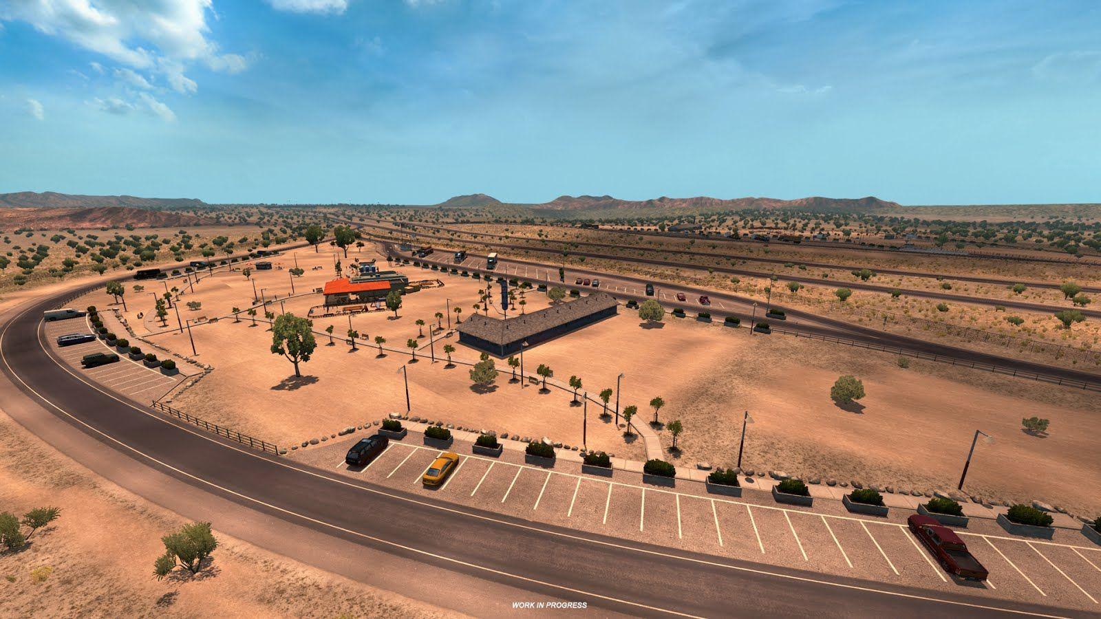 American Truck Simulator: скриншоты из игровой карты с новым масштабом