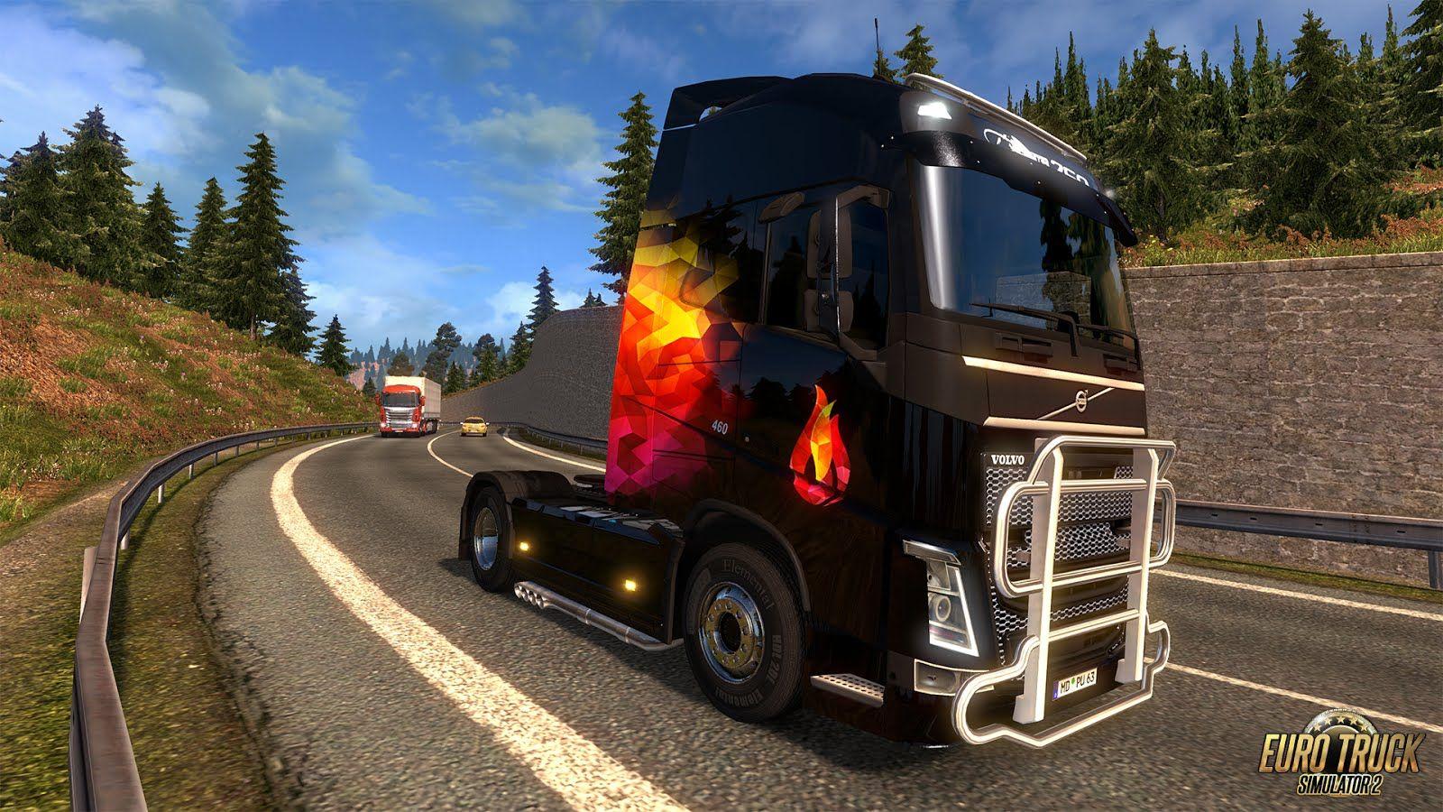 Euro Truck Simulator 2: новые раскраски для грузовиков в обновлении 1.25