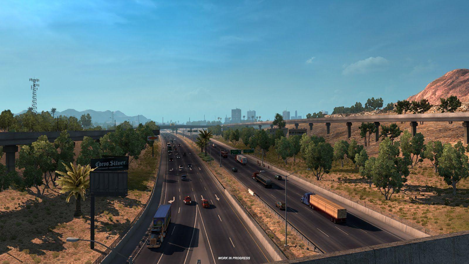 American Truck Simulator: новые скриншоты из игровой карты с новым масштабом