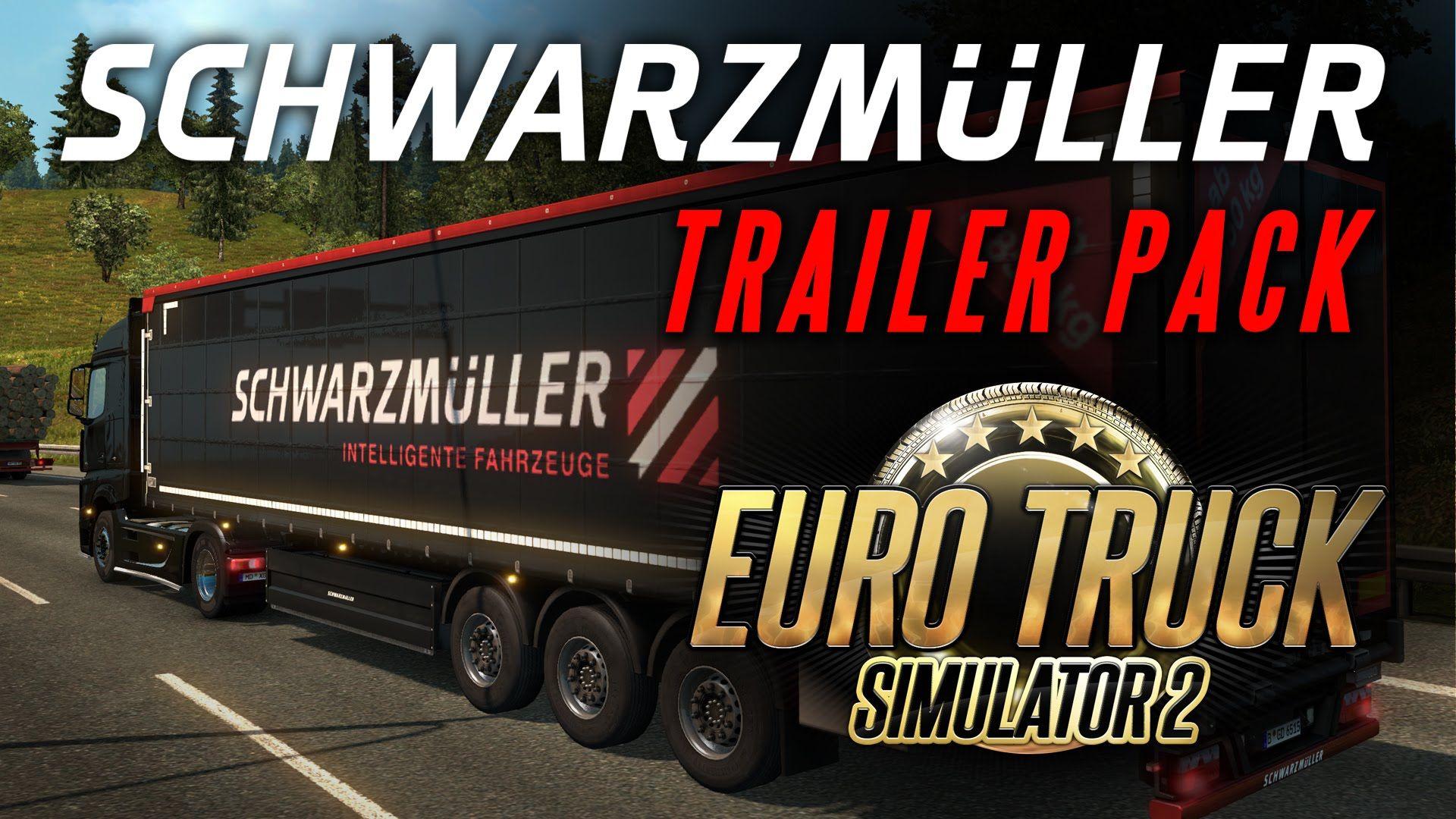 Euro Truck Simulator 2: дополнение Schwarzmüller Trailer Pack DLC