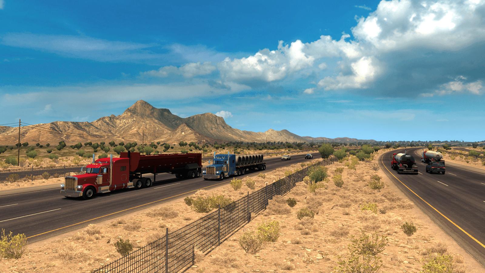 Состоялся релиз обновления American Truck Simulator 1.5 с обновлённой картой