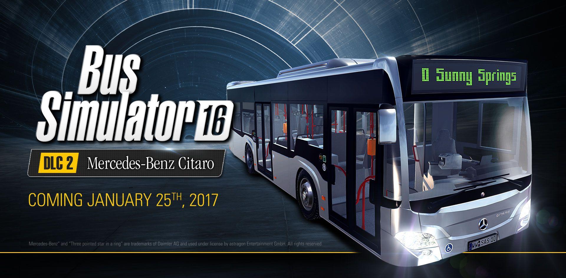 Bus Simulator 16: дополнение с автобусом Mercedes-Benz Citaro выйдет 25 января