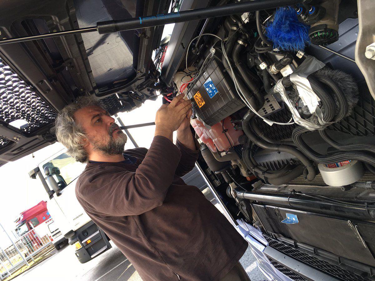 Запись звуков для новых тягачей Scania