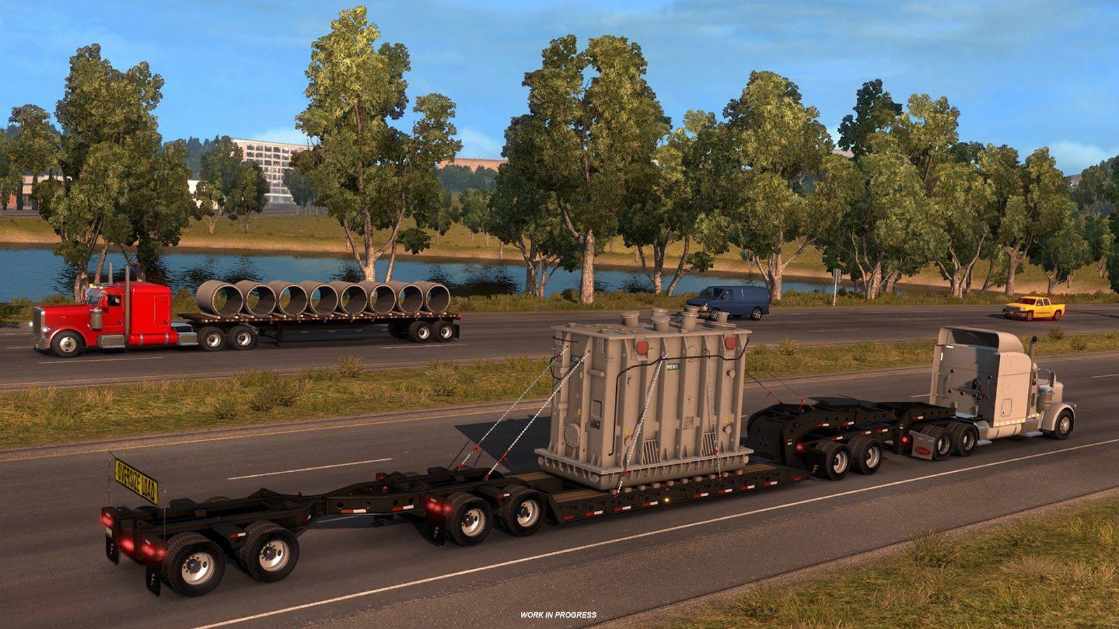 Сверхтяжёлые грузы в American Truck Simulator