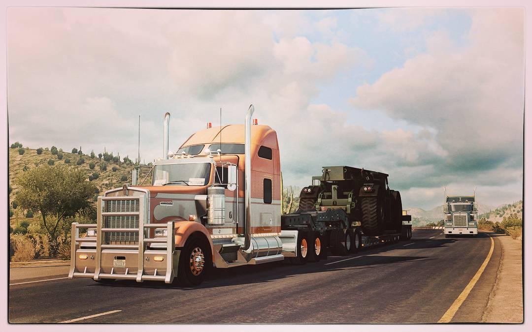 American Truck Simulator - перевозка сверхтяжелых грузов