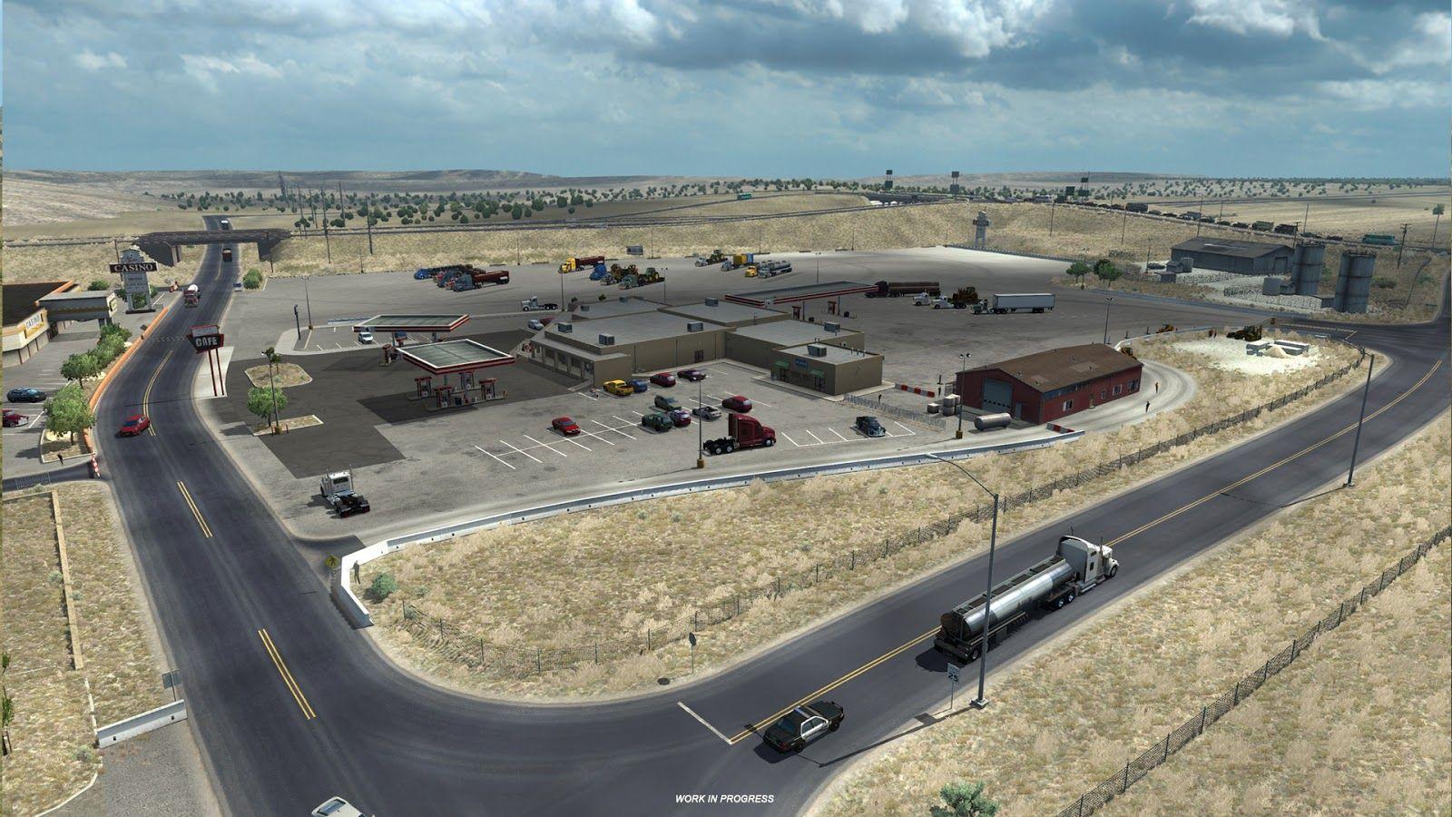 American Truck Simulator: новые зоны отдыха и заправки в дополнении New Mexico
