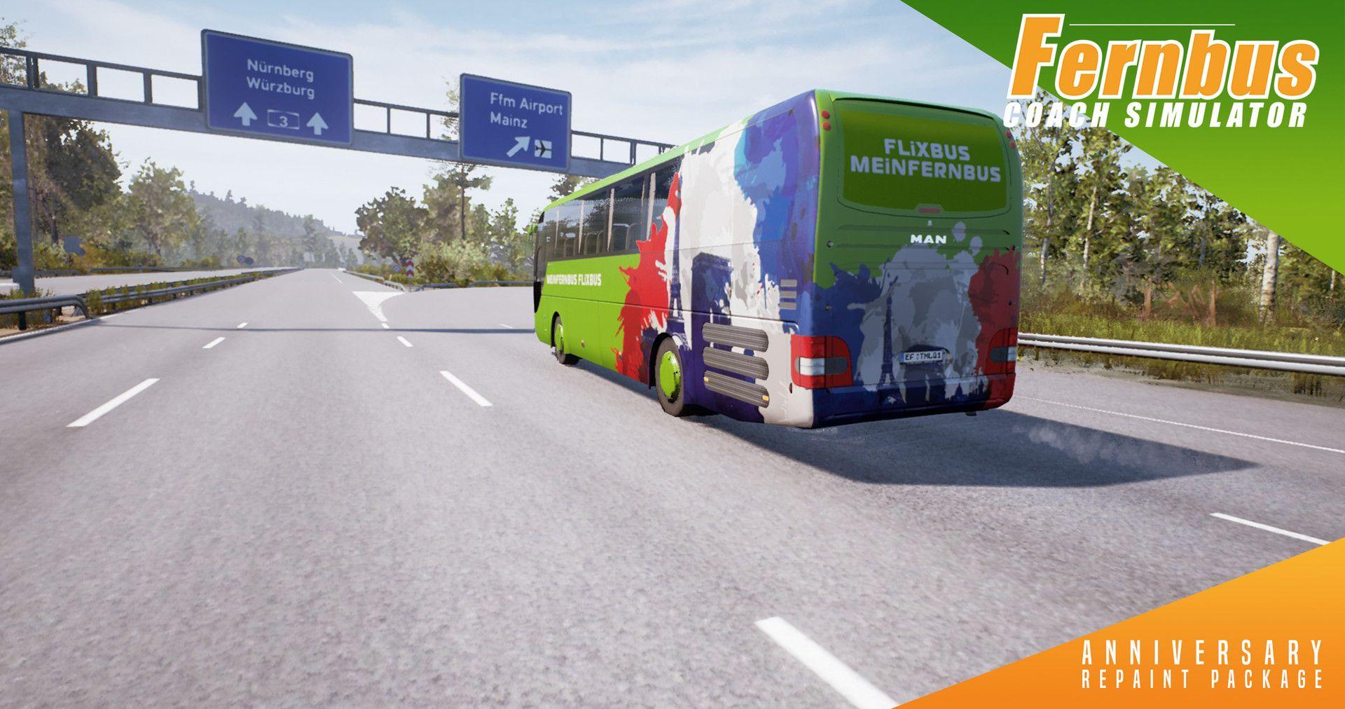 Fernbus Simulator: вышло дополнение Anniversary Repaint Package