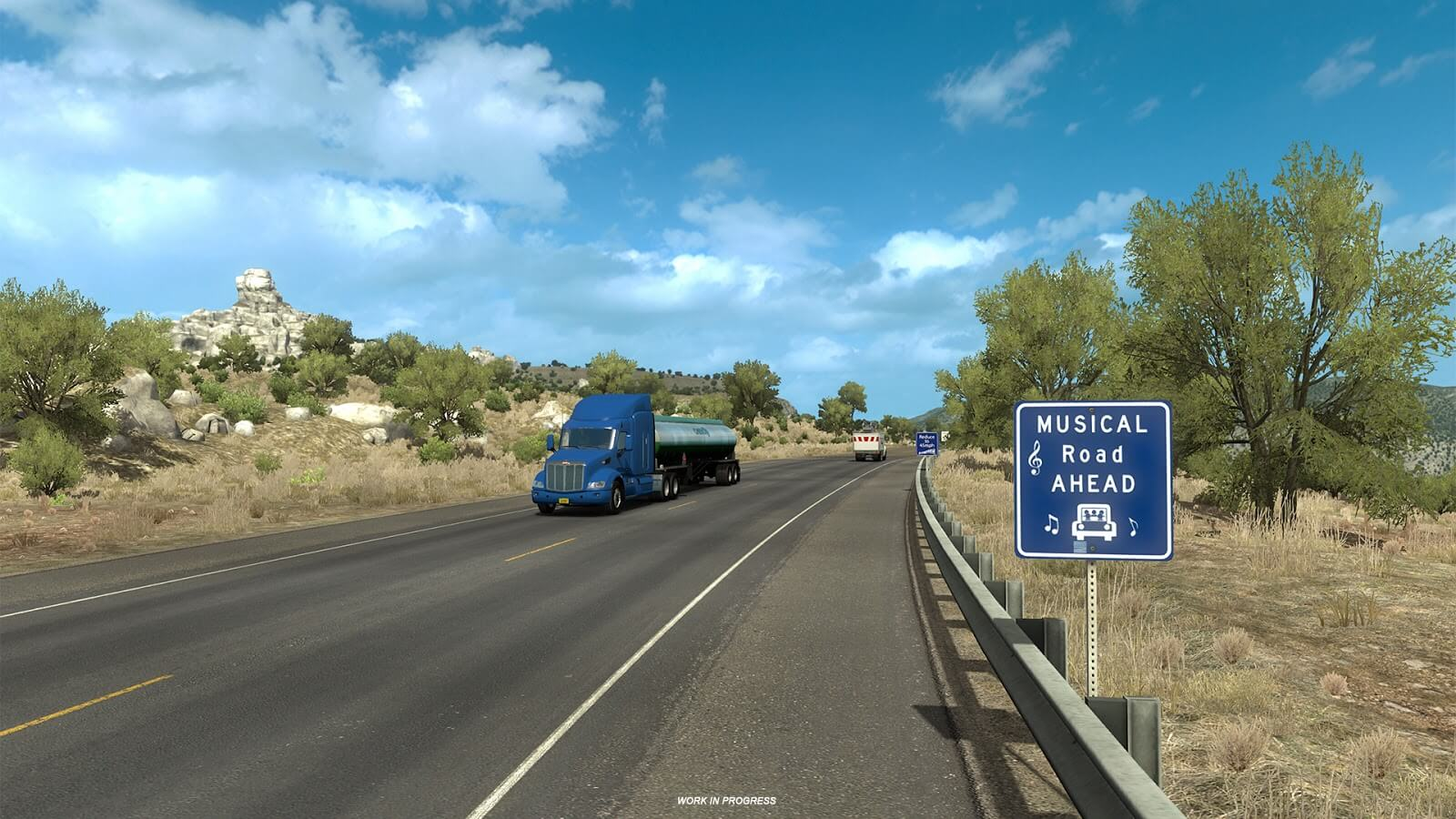 American Truck Simulator: New Mexico - музыкальная дорога