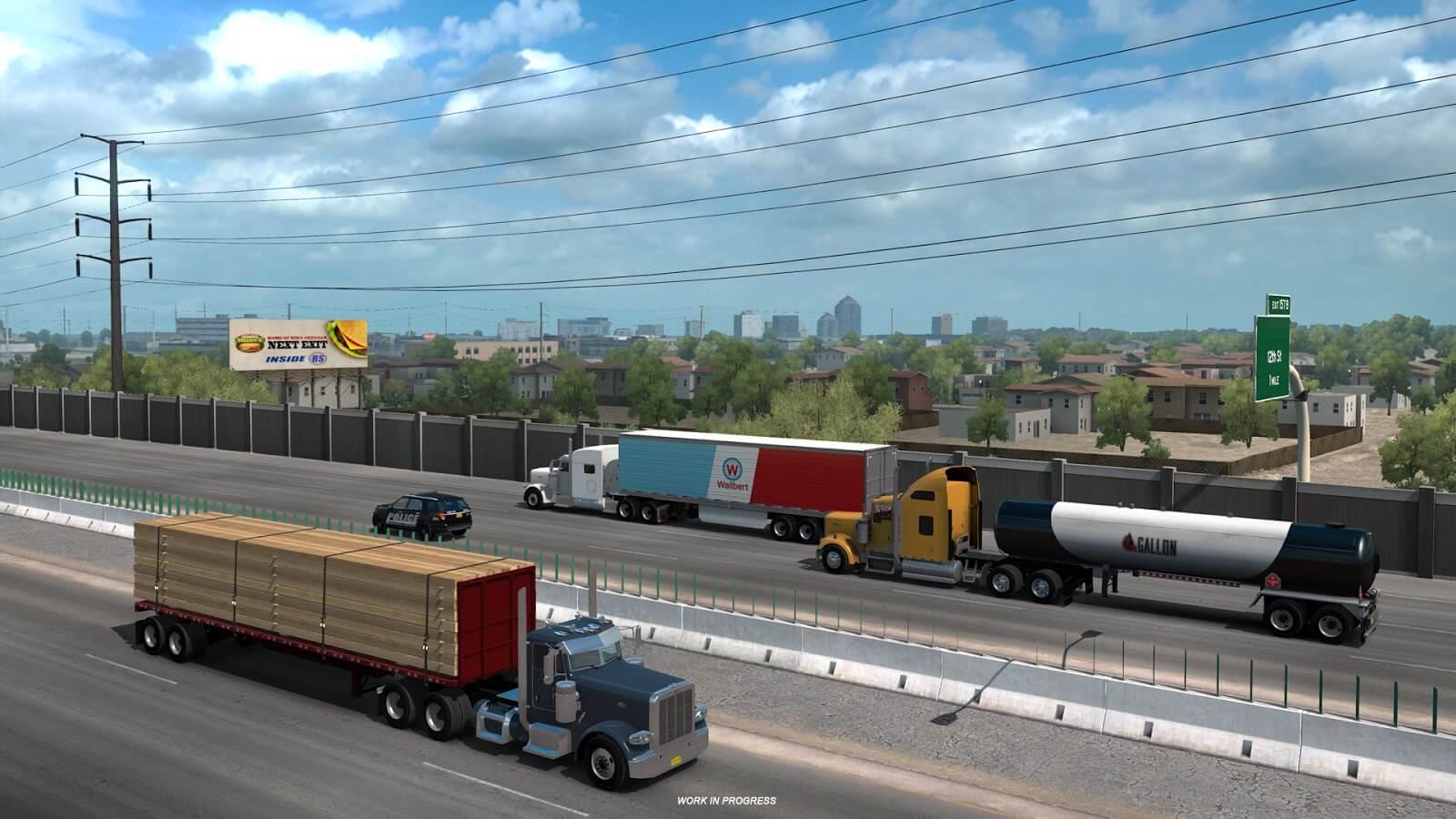 American Truck Simulator: New Mexico - Альбукерке