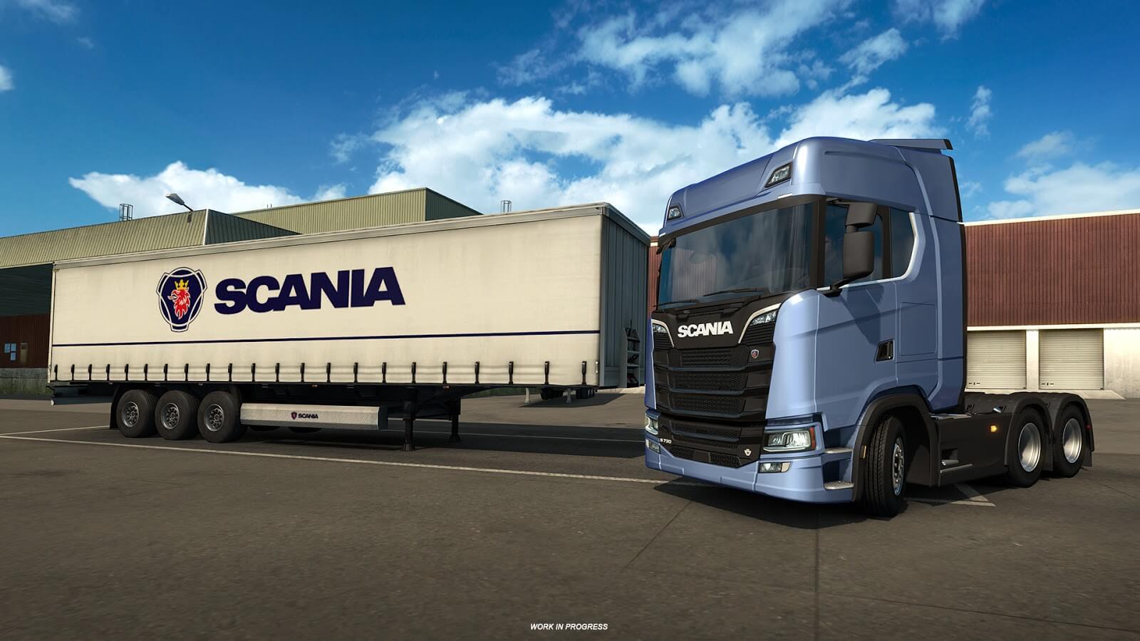 Свежая информация о тягачах Scania S и R для ETS 2