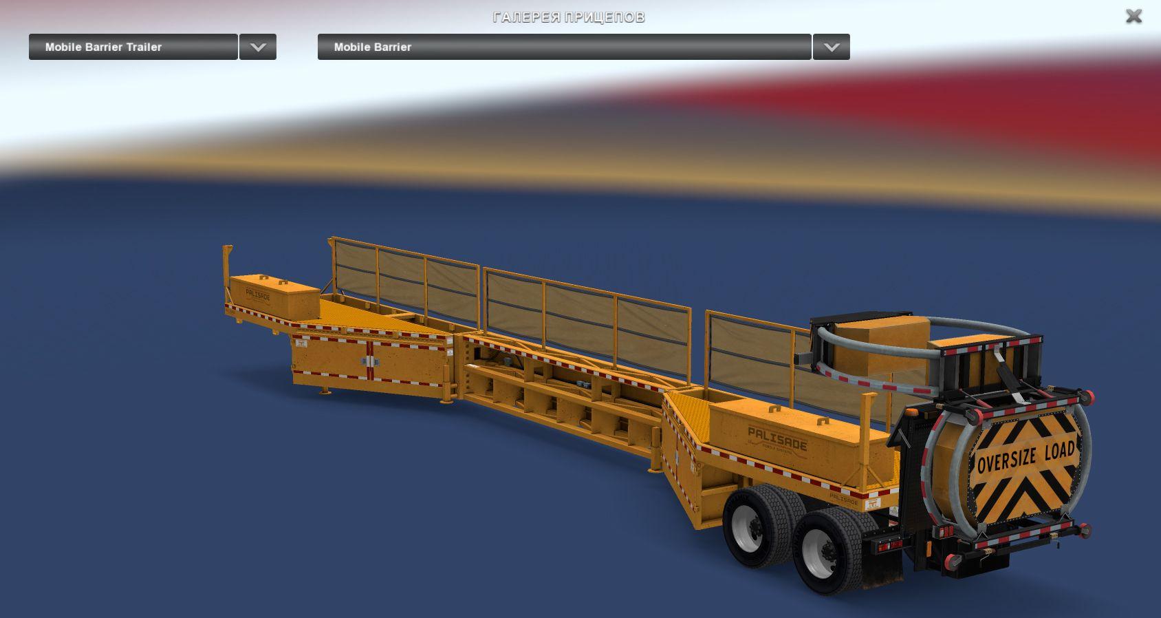 Мобильный барьер-полуприцеп в American Truck Simulator