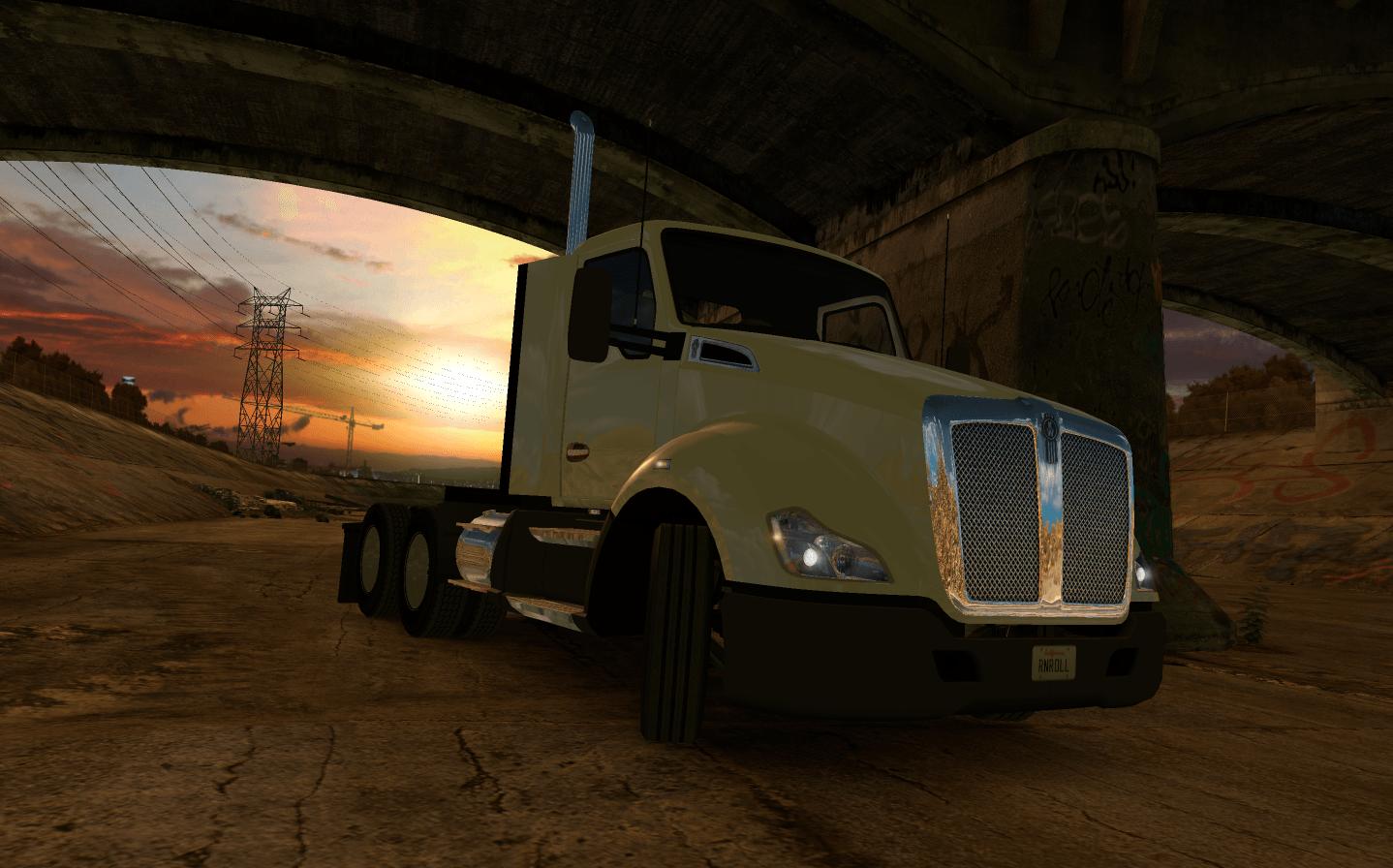 Фоновое изображение для игрового меню ATS, которое можно получить в мероприятии World Of Trucks: логистика с двойными полуприцепами