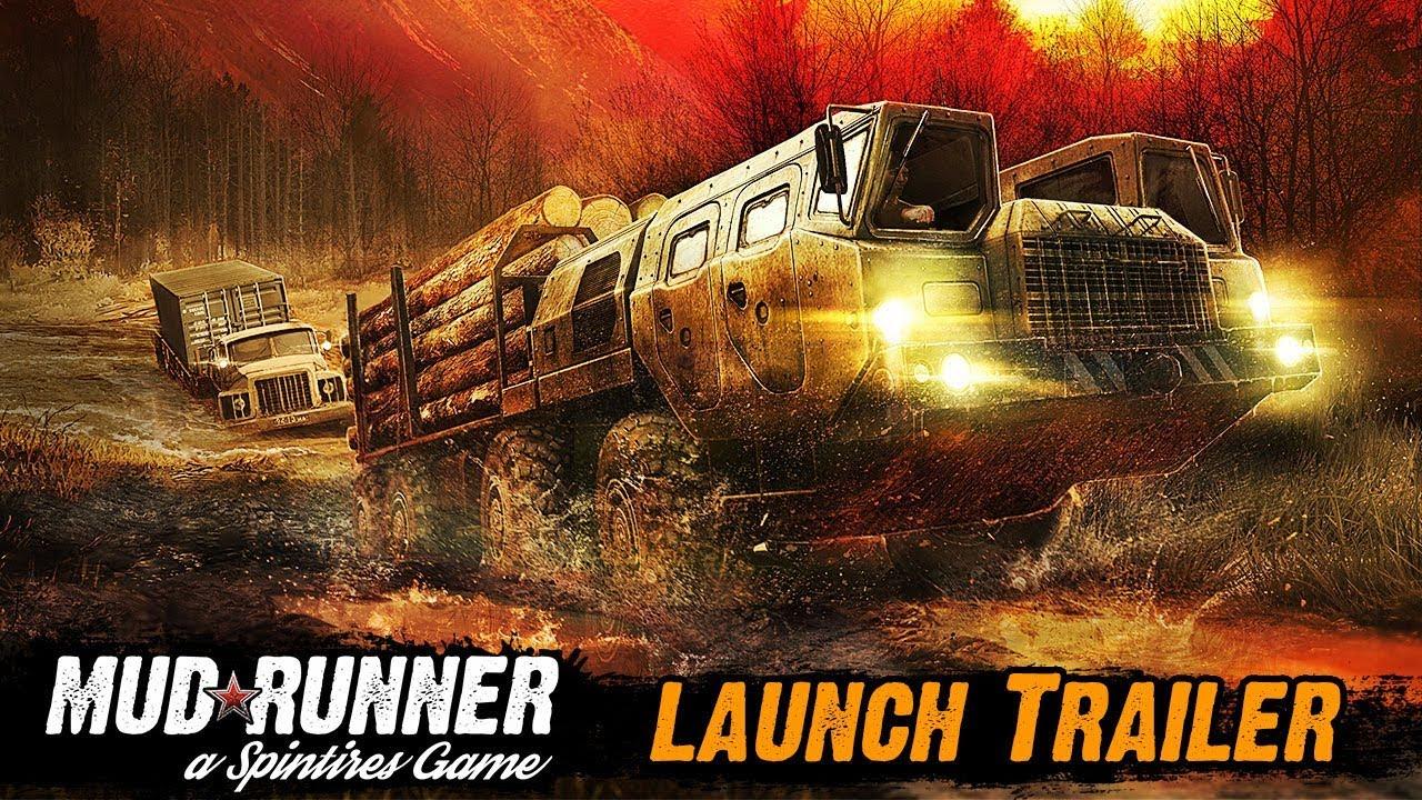 В сети появился трейлер Spintires: MudRunner приуроченный к релизу игры