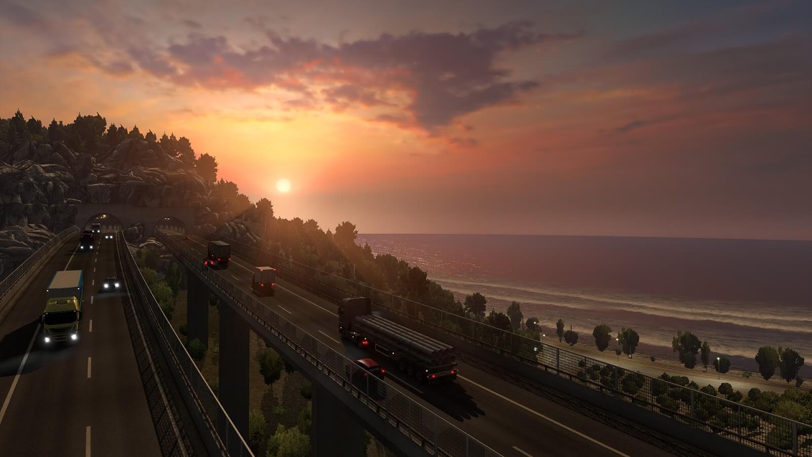 Сицилия в дополнении Euro Truck Simulator 2: Italia