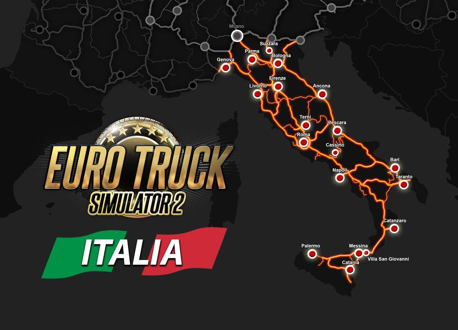 Карта дополнения Euro Truck Simulator 2: Italia
