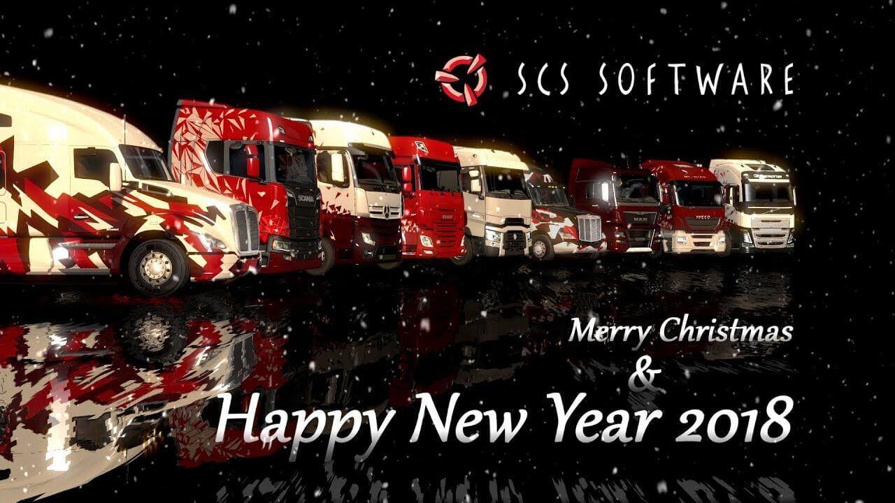 SCS Software: с наступающим Новым годом и рождеством!