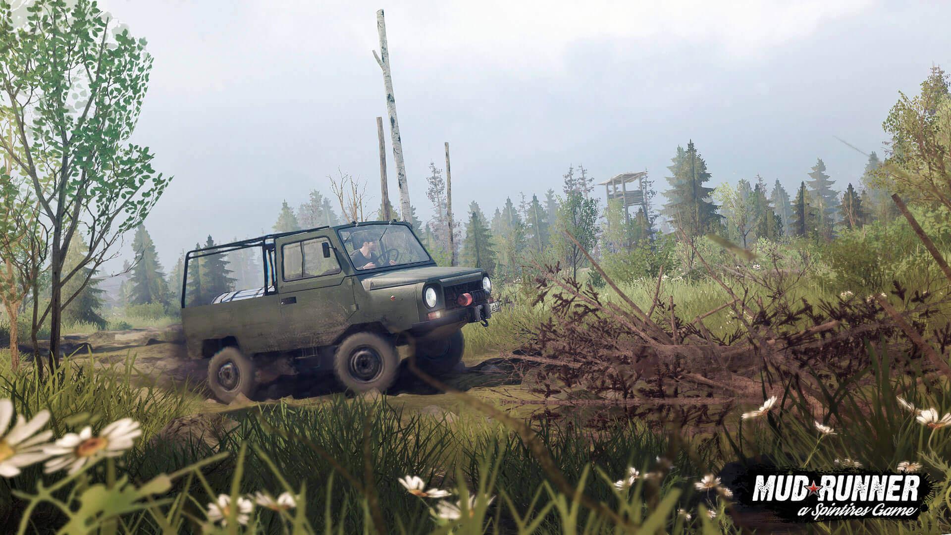 Состоялся релиз первого бесплатного дополнения для игры Spintires: MudRunner