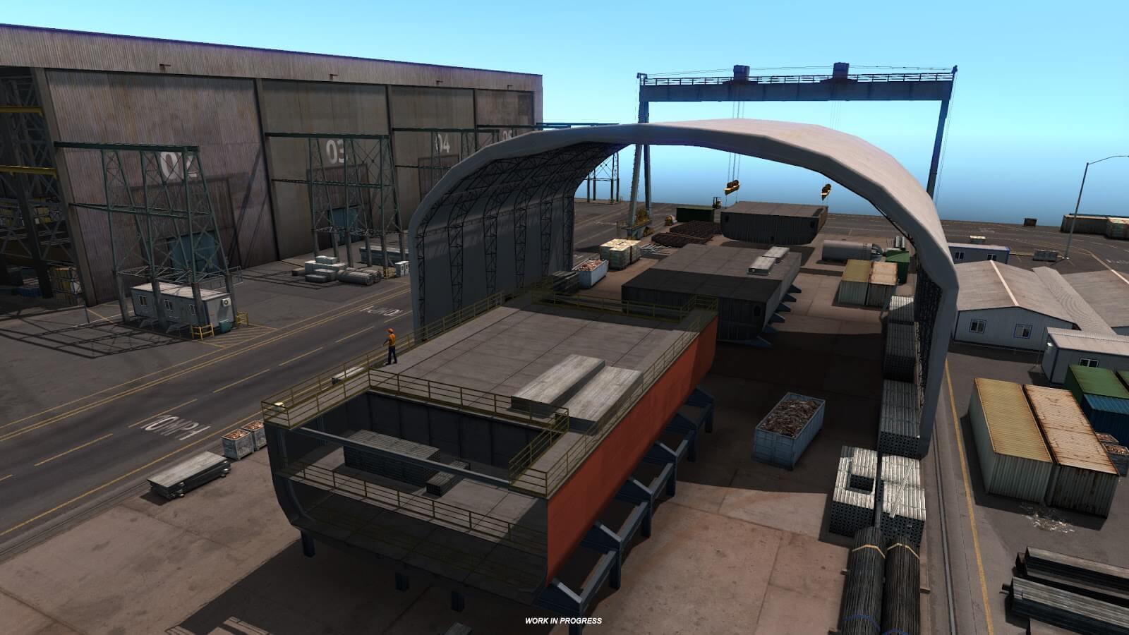 American Truck Simulator: верфь в дополнении Орегон