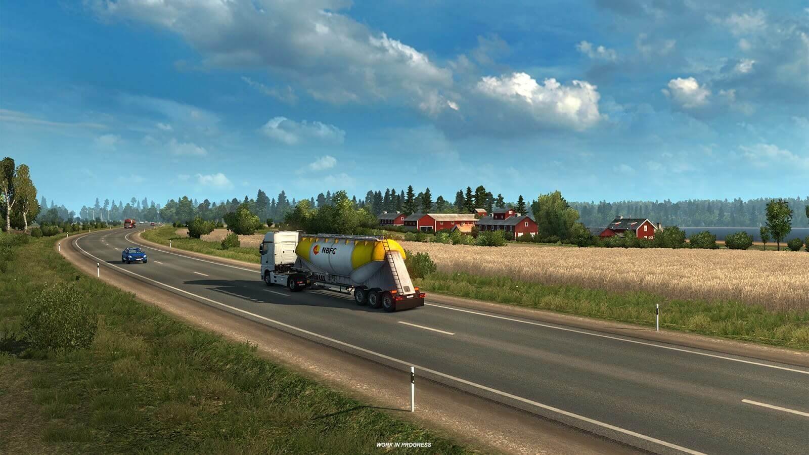 Официальный анонс дополнения Euro Truck Simulator 2: Beyond the Baltic Sea