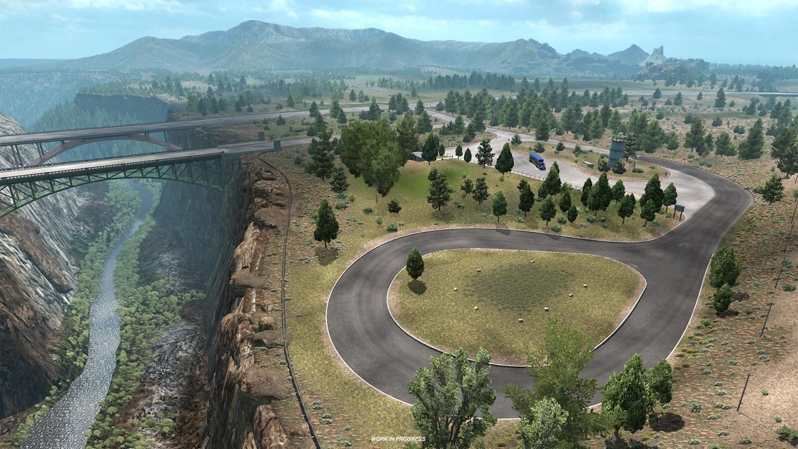 American Truck Simulator: Oregon - зоны отдыха и трак стопы