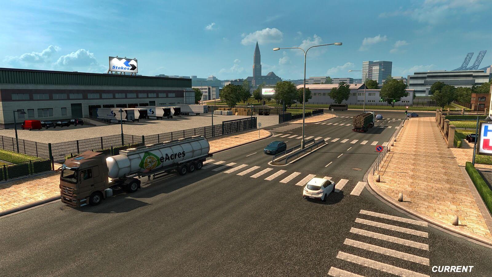В обновлении ETS 2 1.32 будет обновлена территория Германии