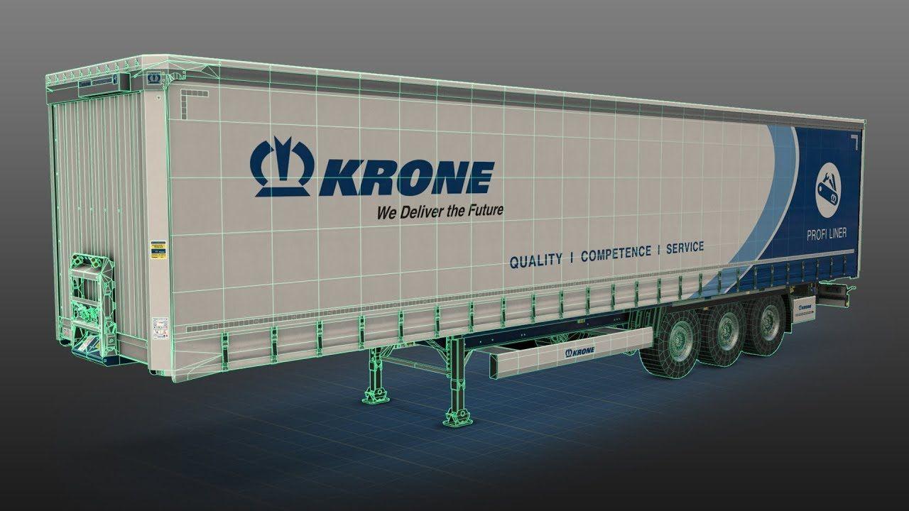 Пара слов о полуприцепах KRONE для ETS 2
