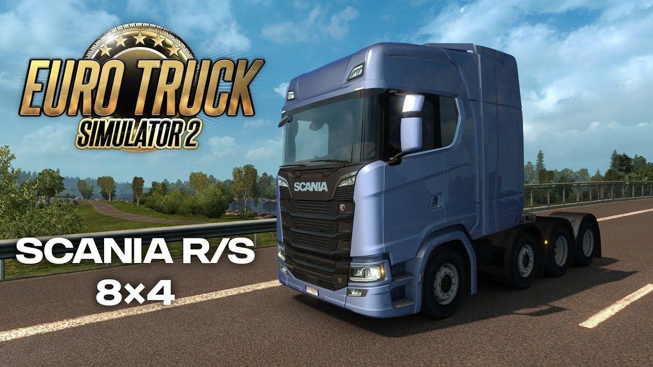 Видеоролик о тягачах Scania с колёсной формулой 8х4