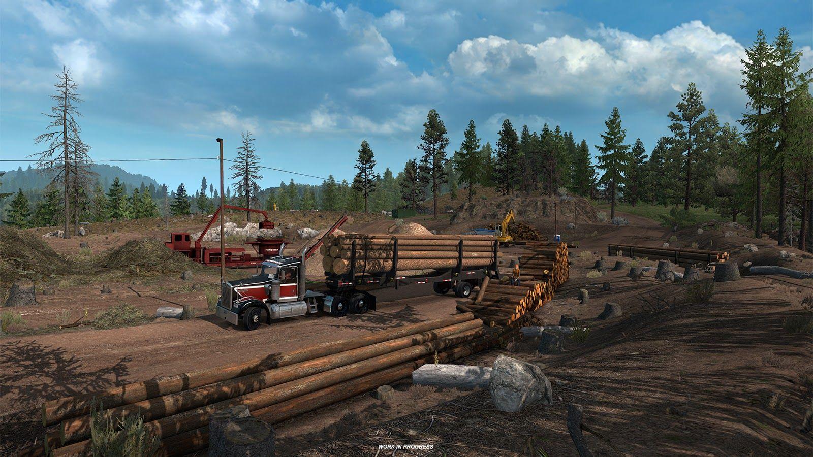 American Truck Simulator: деревообрабатывающая промышленность штата Орегон