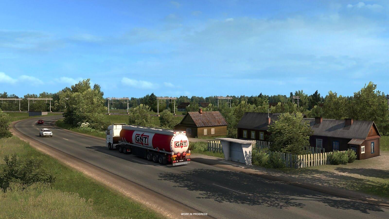 Euro Truck Simulator 2: сельская местность и природа в дополнении Beyond the Baltic Sea
