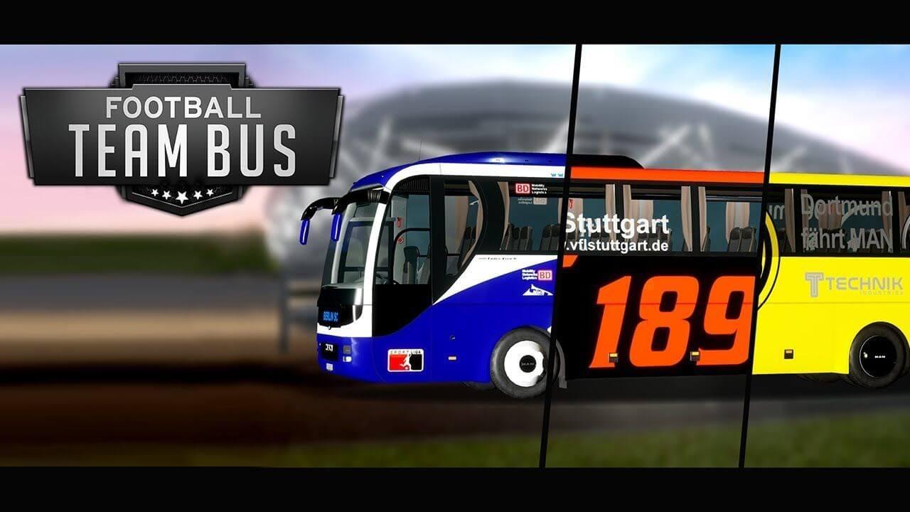 Fernbus Simulator: вышло дополнение Fußball Mannschaftsbus (Football Team Bus)