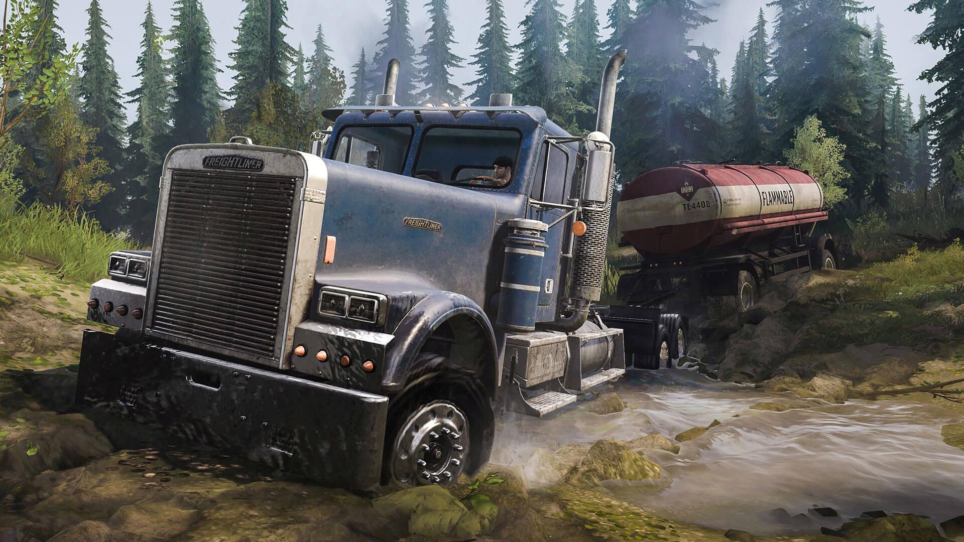 Поговорим о грузовиках из дополнения Spintires: MudRunner – American Wilds