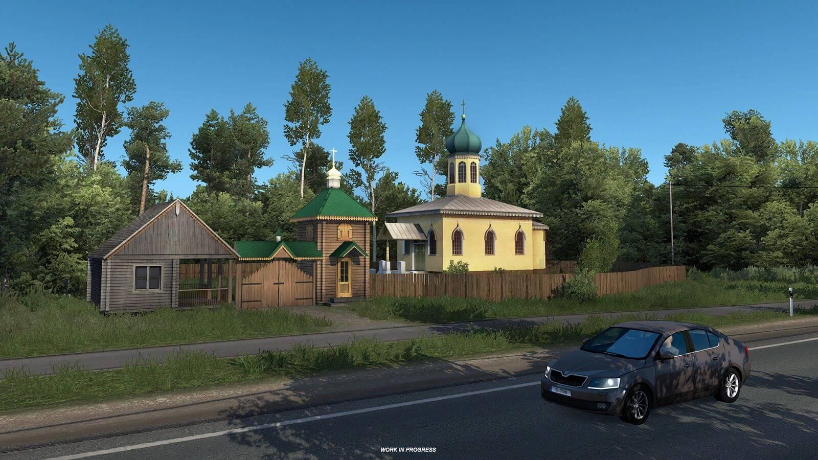 Просторы Прибалтики в дополнении Euro Truck Simulator 2: Beyond the Baltic Sea