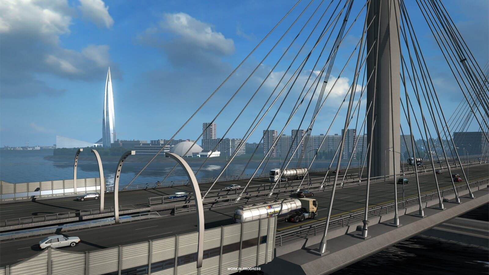Euro Truck Simulator 2: Beyond the Baltic Sea город - Санкт-Петербург
