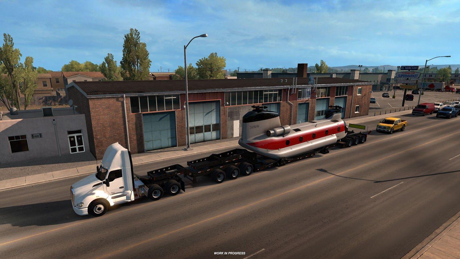 Немного информации про дополнение Special Transport для American Truck Simulator