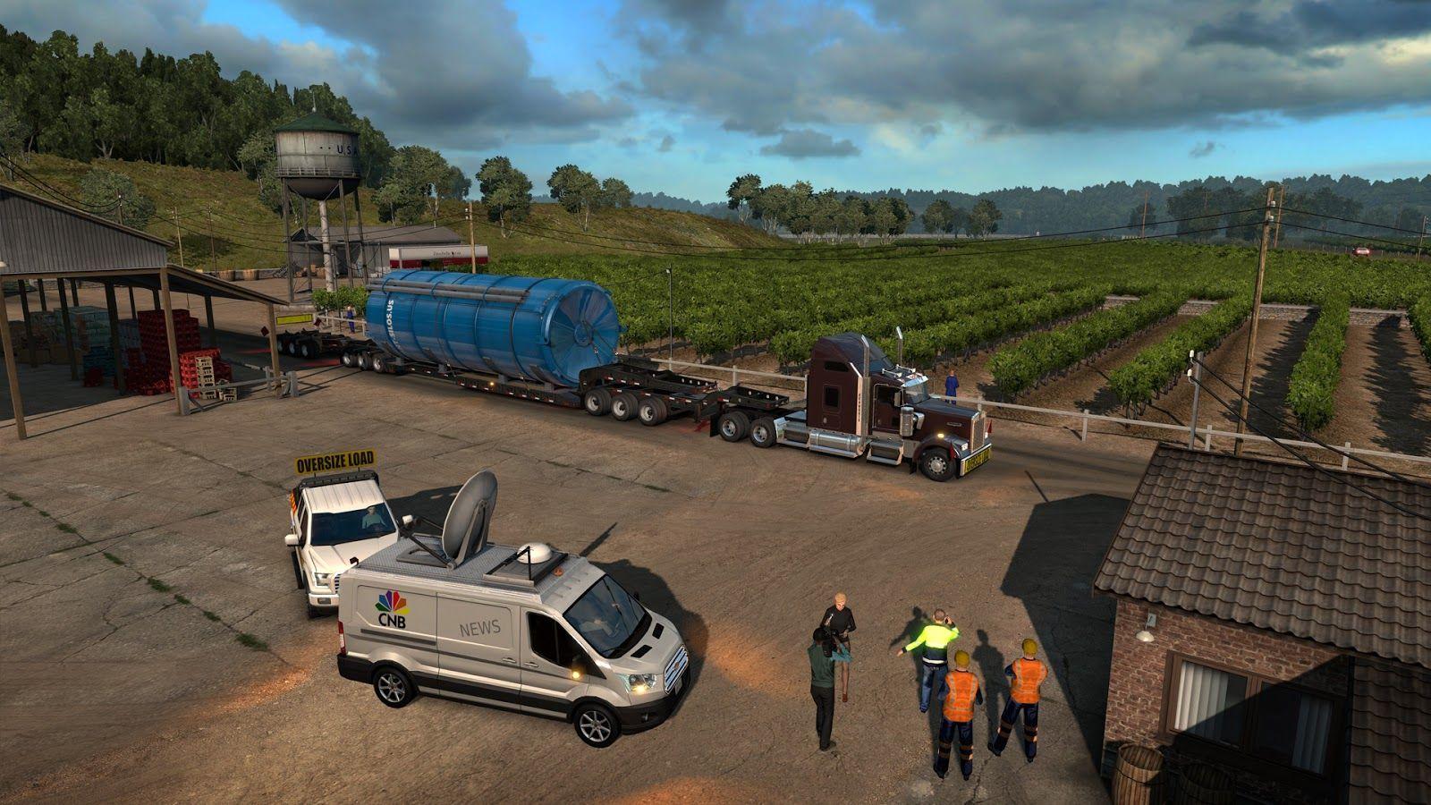 Вышло дополнение American Truck Simulator: Special Transport DLC