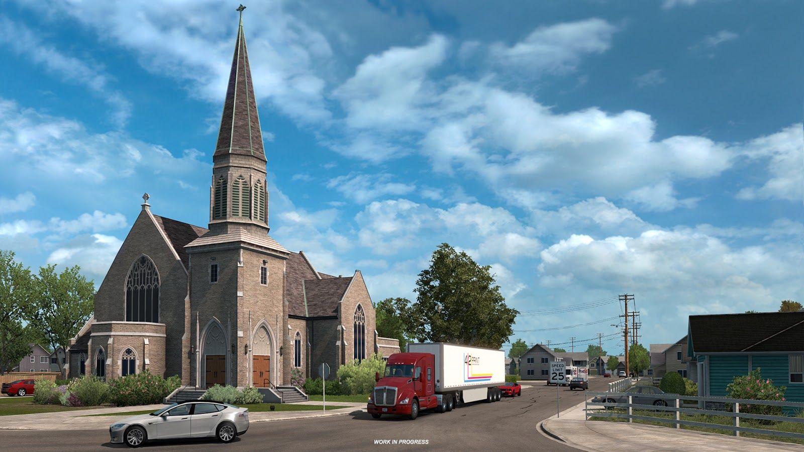 American Truck Simulator: Washington – городские достопримечательности