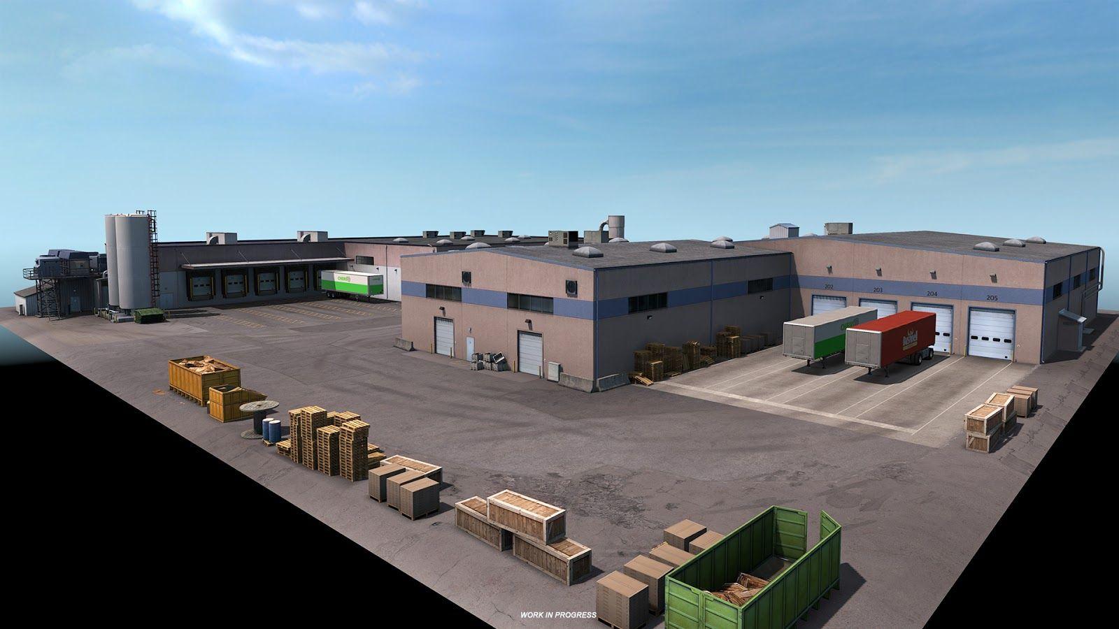 American Truck Simulator: Washington – промышленные объекты