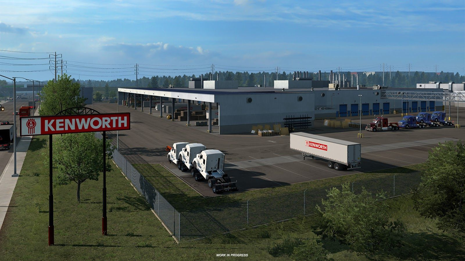 Завод Kenworth из дополнения American Truck Simulator - Washington